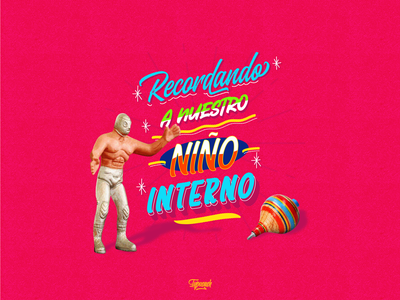 Día Del Niño santo luchador mexico niño design vector typography handmade monterrey diseño illustration lettering letter handlettering