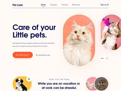 Web Landing Page petcare petweb pet sajon orix logo illustration design desktop design landing page website design website web design webdesign web
