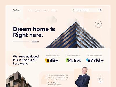 Real-Estate Web Header ux ui uiux sajon orix realestate design desktop design webdesign landing page website design website web design web