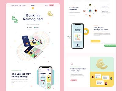 Banking Web Landing Page agency web designer product designer visual designer ux designer ui designer 3d logo illustration design webdesign sajon web landing page website orix web design