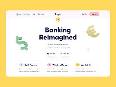 Banking Web Animation branding visual designer ui designer banking app web banking banking bank color animation agency 3d illustration design webdesign sajon web landing page website orix web design