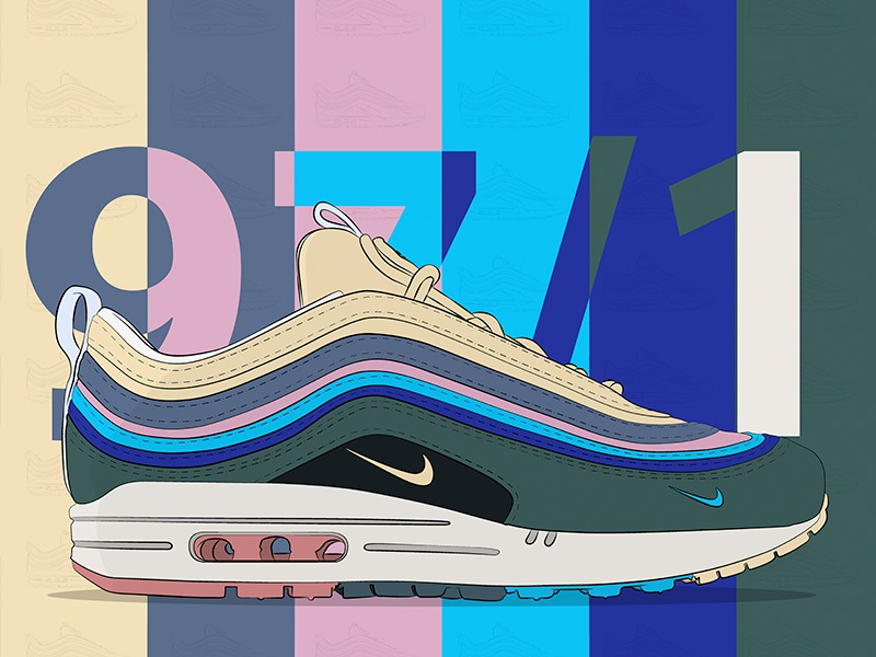 The Sean Wotherspoon x Air Max 971 illustration #nike