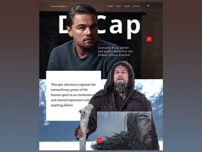 The Revenant кино актер oscar actor snow ux cinema revenant dicaprio вебдизайн сайт web ui landingpage design