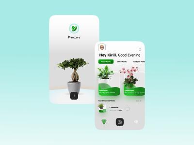 Home Plants ux вебдизайн web ui landingpage design plants