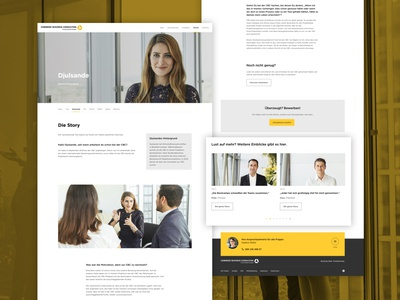 Commerz Business Consulting responsive design images web online ui flat website webdesign interface design