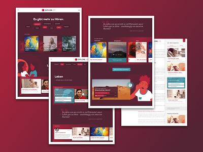 [WIP] MEDEL's Explore Life illustration responsive design web online ui flat website webdesign interface design