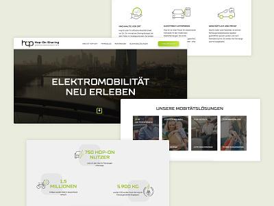 [WIP] Hop-On Landingpage web ui online website webdesign interface
