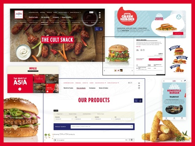 SALOMON FOODWORLD lifestyle food responsive design images flat ui online website webdesign interface design