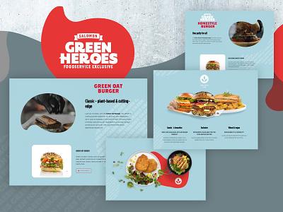 GREEN HEROES food lifestyle illustration web flat online website webdesign interface design