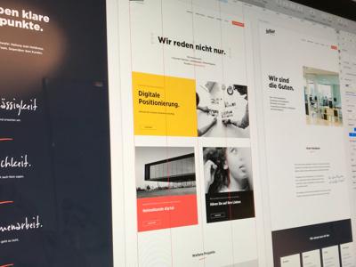 helllicht website rework WIP online interface flat black ui website webdesign design