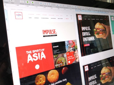 [WIP] Food-Service Website ux typography branding white red frontend magazine lifestyle photo black web online images interface flat website webdesign ui design