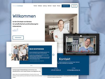 Christoph von Oertzen images responsive design photo web online flat website webdesign interface design