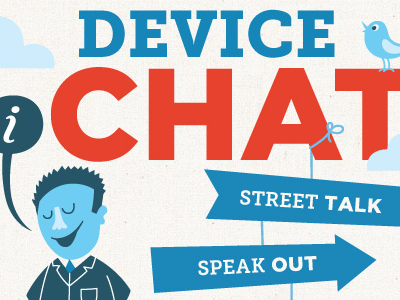 Device Chat illustration website coaches loupe