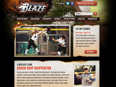 Birmingham Blaze Website website sports coaches loupe