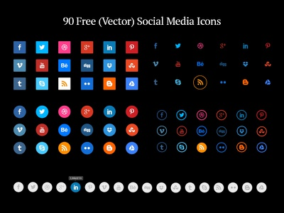 90 Free (Vector) Social Media Icons free icons icon set social icons free social media icons