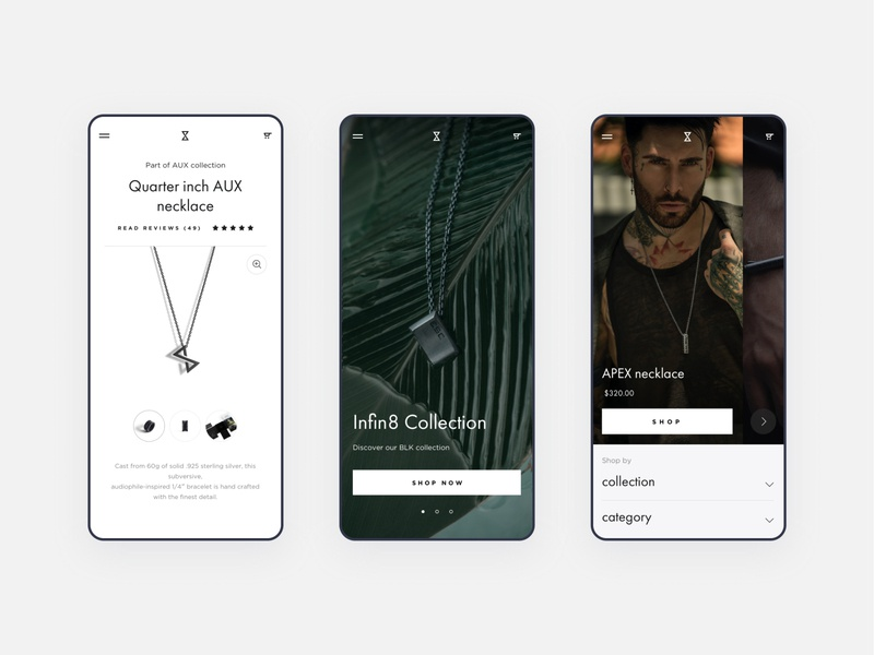 E-commerce website design for L.Novum