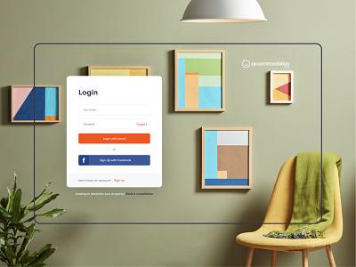 Accommodation.co.uk property realestate platform dashboard rental renting ux design branding ui web landing website