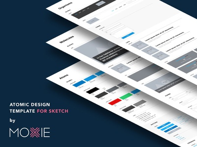 Atomic Design template for Sketch organisms molecules atoms kit pattern lab moxie sketch template atomic design