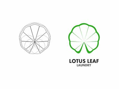 Lotus Leaf laundry icon clean green design logo leaf lotus
