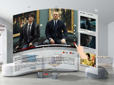 Netflix VR virtualreality netflixvr interaction design ux app illustration figma adobe xd dribbbleindo