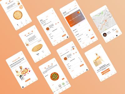 Customize Pizza Mobile App micro interaction adobe xd ux logo branding design figma interaction design dribbbleindo