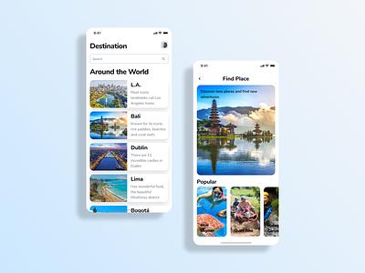 Nature Travel Destination Mobile Design airbnb figma adobe xd mobile design travel nature