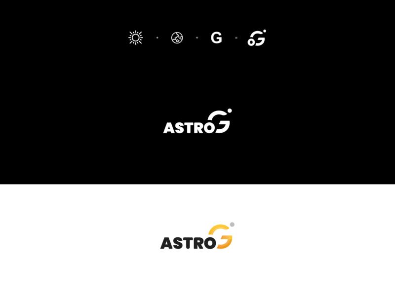 astroG logo astrology earth sun g typogaphy logo design logo