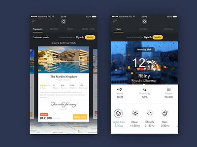 Travel App  google weather travel tourism flat colors interface clean ux minimal app icons ui