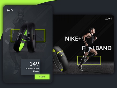 Nike Creative Cards nikefuel band google dark green graphics banner ad card nike