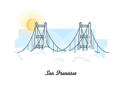 San Fran: Soon Very Soon bridge golden gate us google line drawing city illustration san francisco