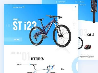 Bike Sales: Landing page google white simple web landing page cycle bike website