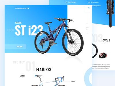 Bike Sales: Landing page