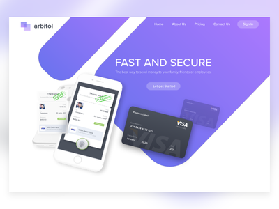 Cash Transfer transfer money credit card website web banner cash
