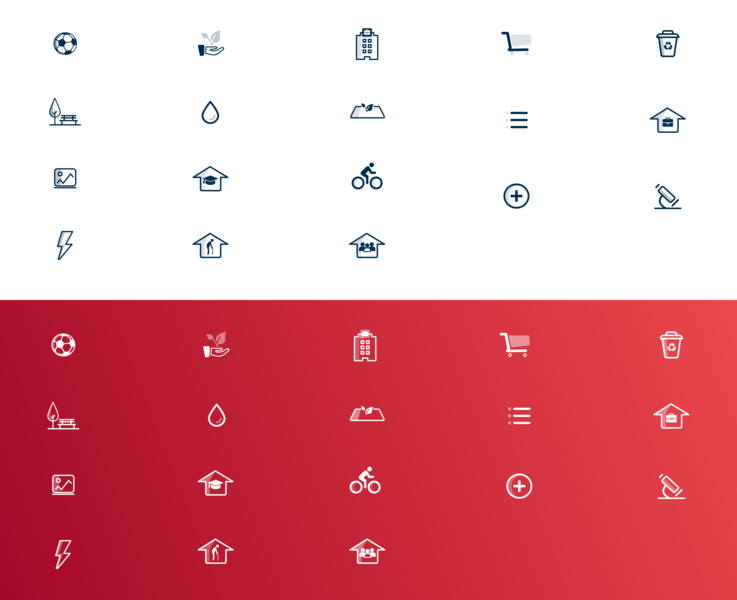 Iconography icon design icons pack white dark icons set icons
