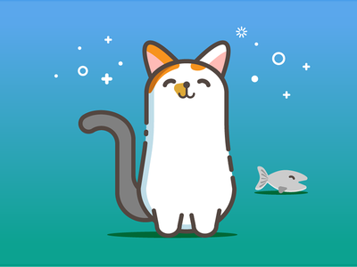My  Lovely Cat graphic design illustration mbe style mbe cat