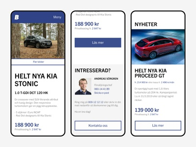View of start page on mobile responsive cars ecommerce layout user interface design ui figma web