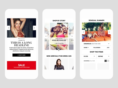 H&M android ios app user experience ux ecommerce layout design user interface ui