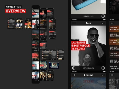 Stress Music app user experience ux user interface design ui ios