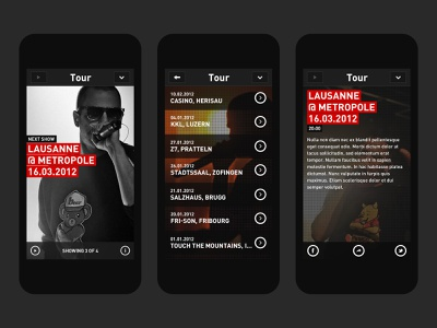 Stress Music application user experience ux user interface ui ios design app