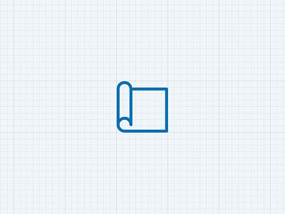 Blueprint branding icon vector logo illustration