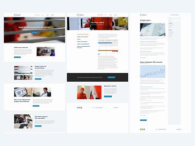 Blueprint user interface marketing site layout web design ui