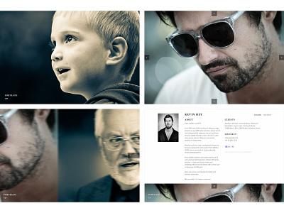 Kevin Hey photographer portfolio user experience ux web ui user interface layout design