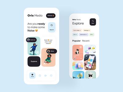 Media App color palette orix illustraion interaction color ui mobile ui mobile apps mobileappdesign mobile app mobileapp mobile minimal interface app