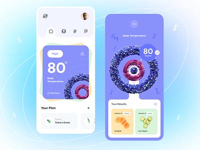 Health Tracker health orix design mobileappdesign minimal mobile app mobile mobileapp interface app ui