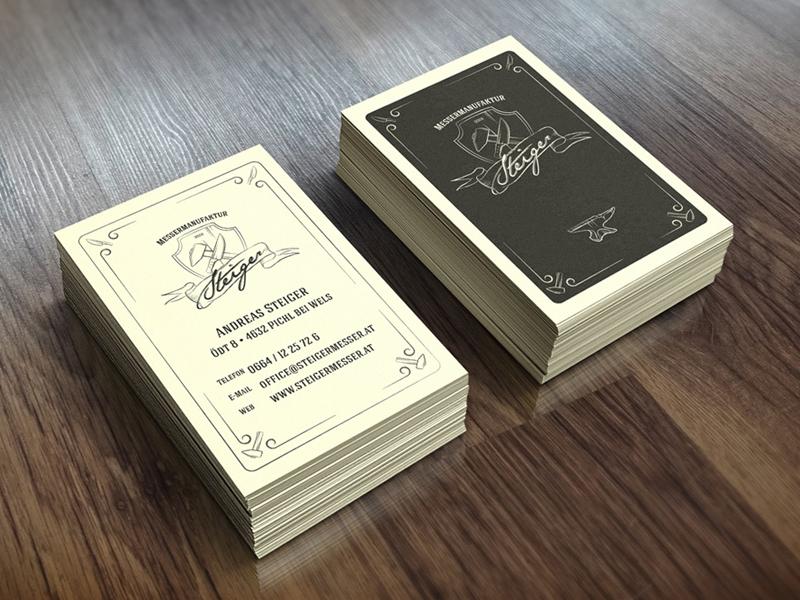 Visitenkarten Für Messermanufaktur Steiger By Bernhard Wendt