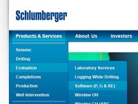 Schlumberger drop down nav