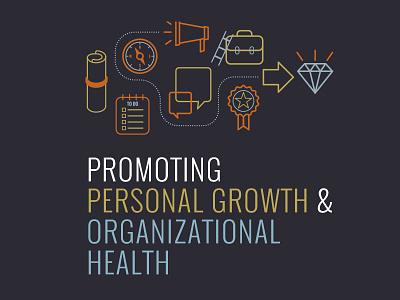 Organizational Health line art illustration icons corporate