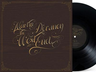 Martin Devaney West End LP cover album art album cover script wood music