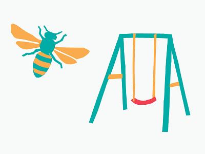bswing paper cut paper bee swing swing set