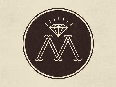 M Monogram lettering monogram